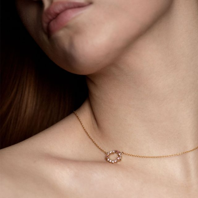 摩根石宝石簇项链