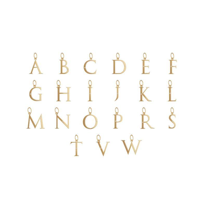 立体字母吊坠(金色)