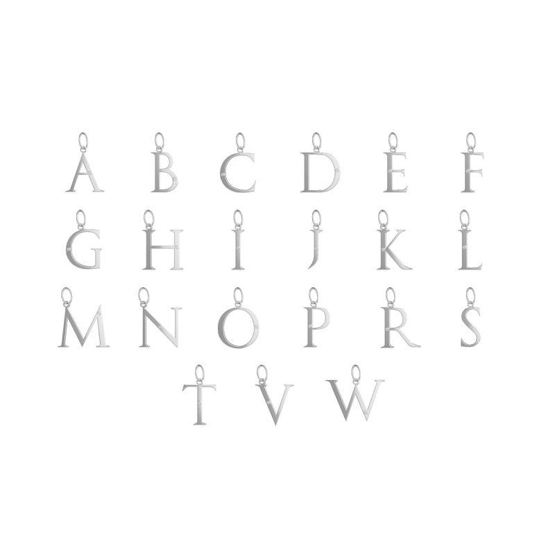 立体字母吊坠(银色)