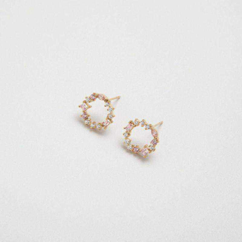 摩根石宝石簇耳钉