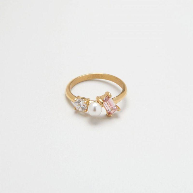 摩根石三重奏戒指