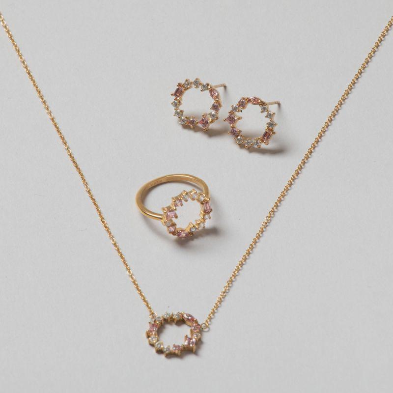 摩根石宝石圆环组合