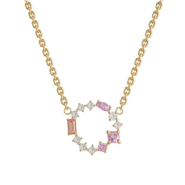 Blush Morganite Cluster necklace